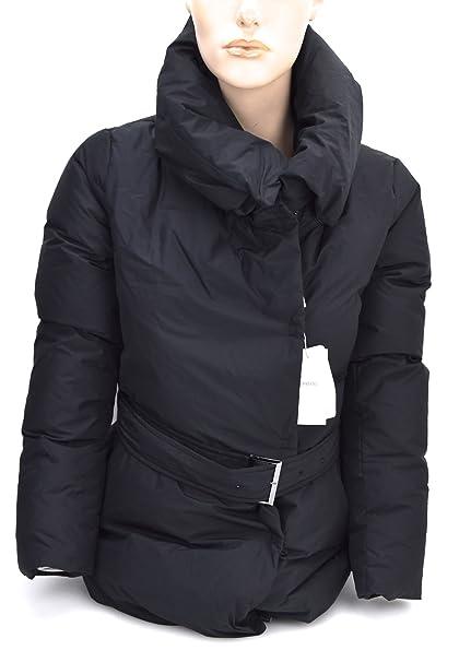 Armani Collezioni Abrigo DE Pluma Negro para Mujer Art. SMB66T SM733 46 - USA 10 Nero - Black: Amazon.es: Ropa y accesorios