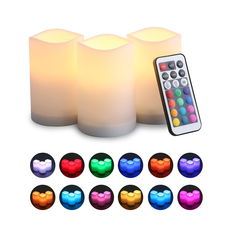 Layopo フレイムレスキャンドル LEDバッテリー 炎の出ないキャンドル タイマー付き 炎の出ないキャンドル クリスマス パーティー 誕生日 装飾用 ギフト B07GWWX135