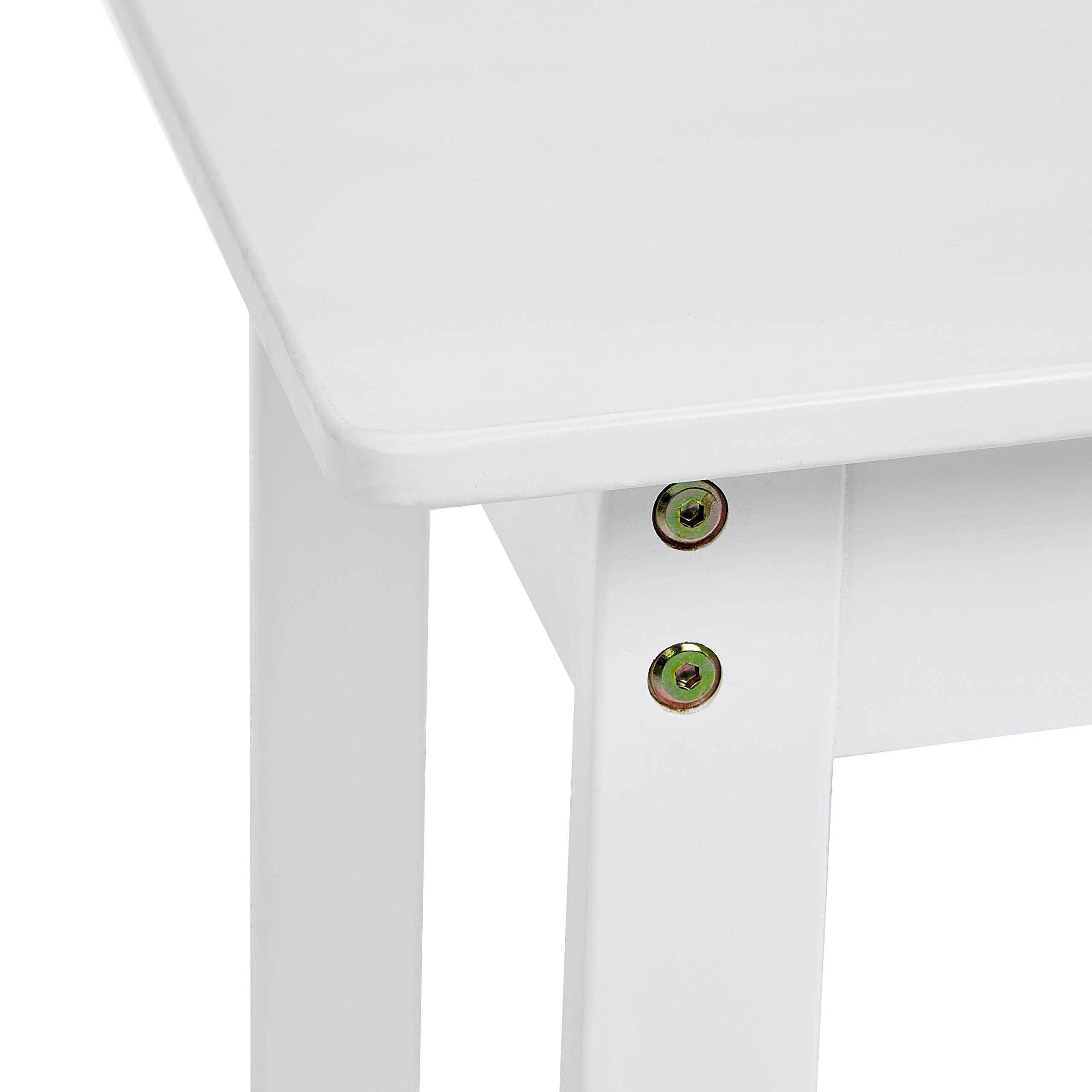AmazonBasics Kids Solid Wood Table and 2 Chair Set, White by AmazonBasics (Image #6)