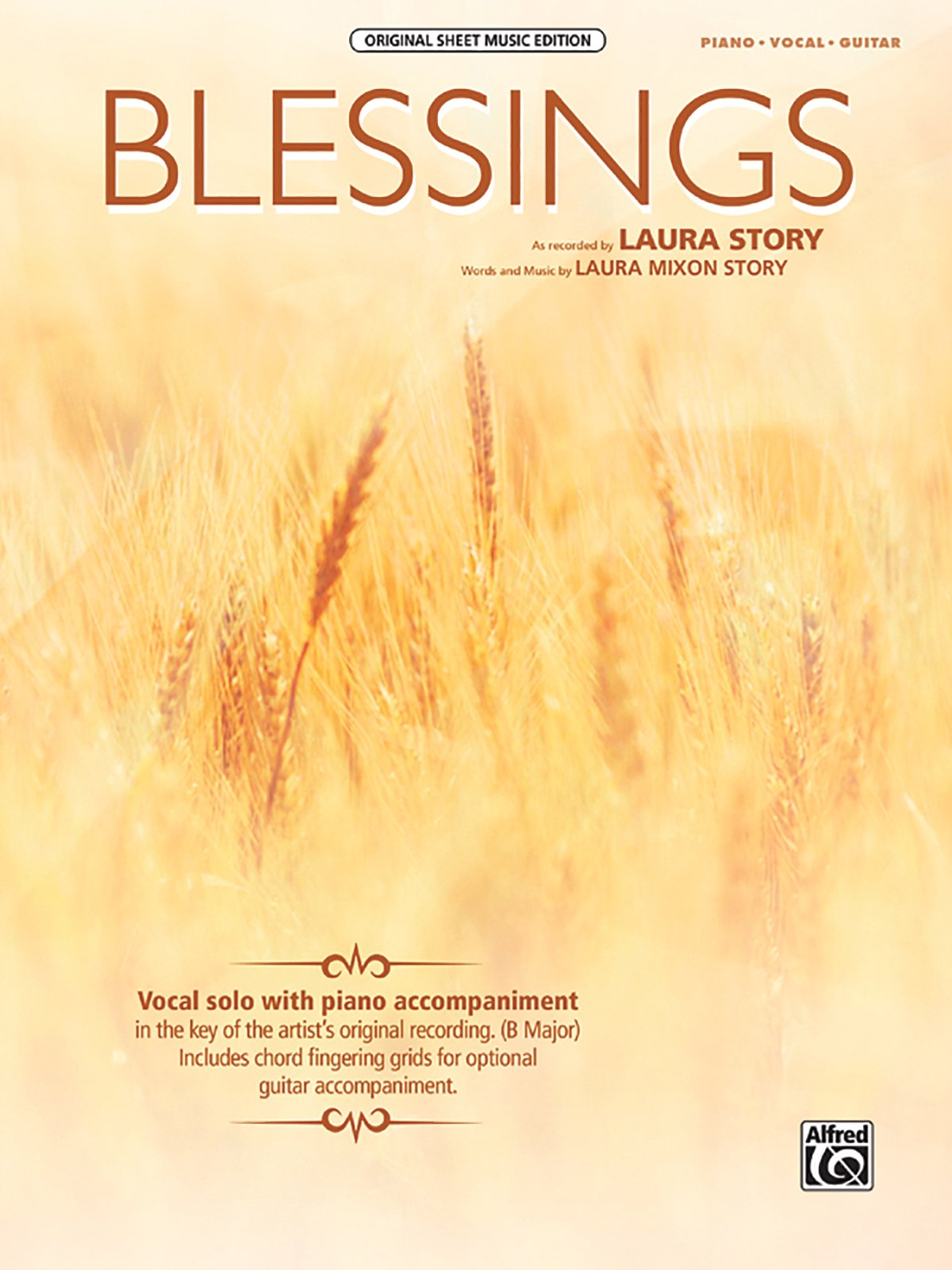 Blessings Pianovocalguitar Sheet Original Sheet Music Edition