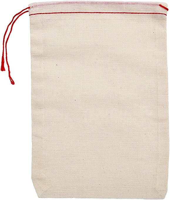 made with 100/% cotton in the USA by Celestial Gifts 5 x 7 inches Natural Drawstring Cotton Muslin Bags 25 Count