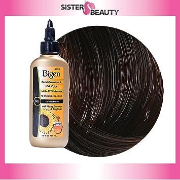 Amazon.com : Bigen Semi Permanent Hair Color, Darkest Brown, 3.0 ...