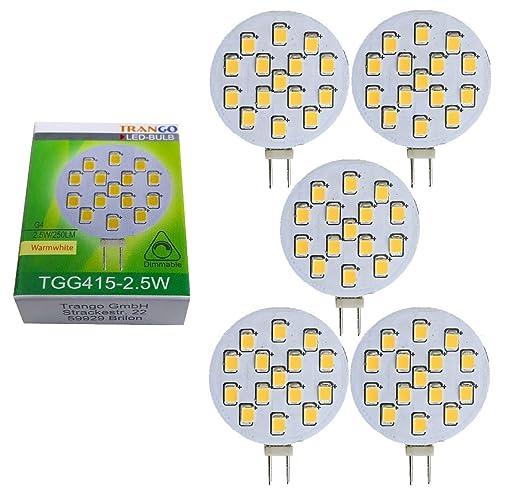 Trango TGG415 - Bombilla led regulable, G4, 12 V CA/CC, 2