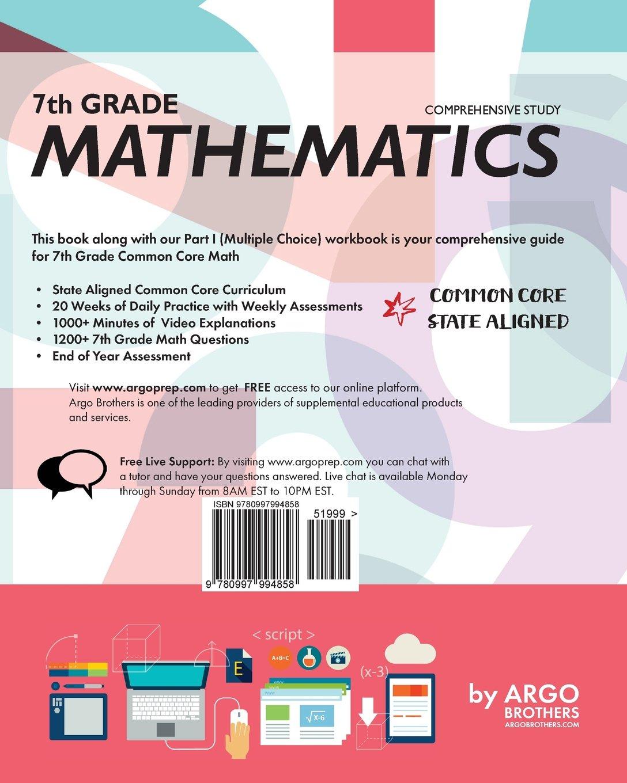 Argo Brothers Math Workbook, Grade 7: Common Core Math Free ...