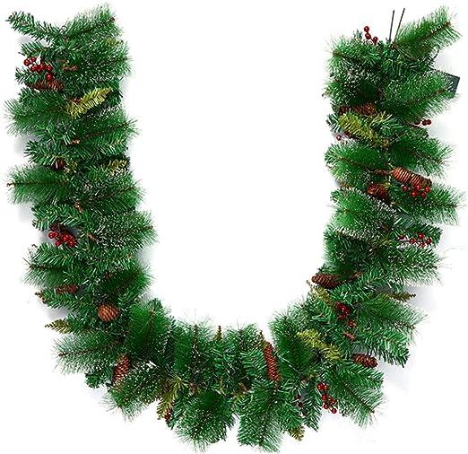 BESTOYARD Christmas Garland Wreath Decorative Garland with LED
