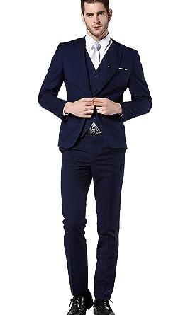 MOGU - Traje - para Hombre Azul Azul Oscuro XL: Amazon.es ...