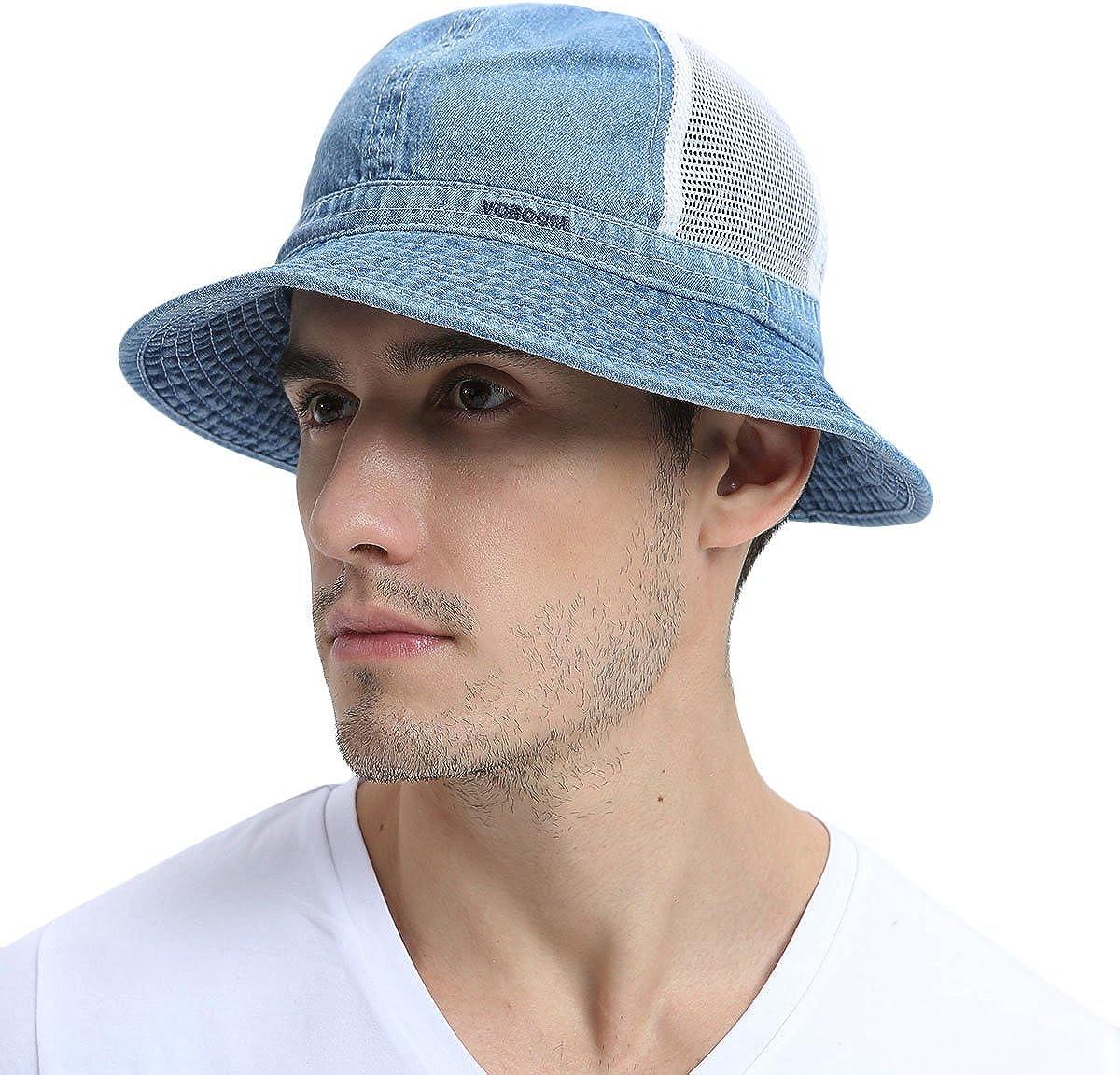 VOBOOM Bucket Hat Caps Mesh...