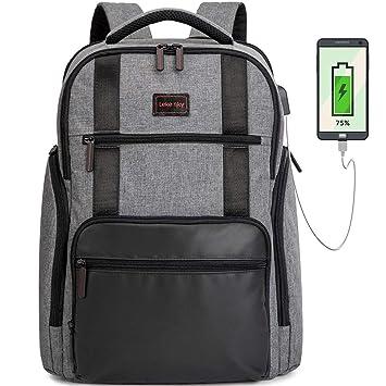 Lekesky Mochila de Viaje para Ordenador portátil 15,6 Mochila antirrobo Casual Daypack, Color Gris: Amazon.es: Electrónica