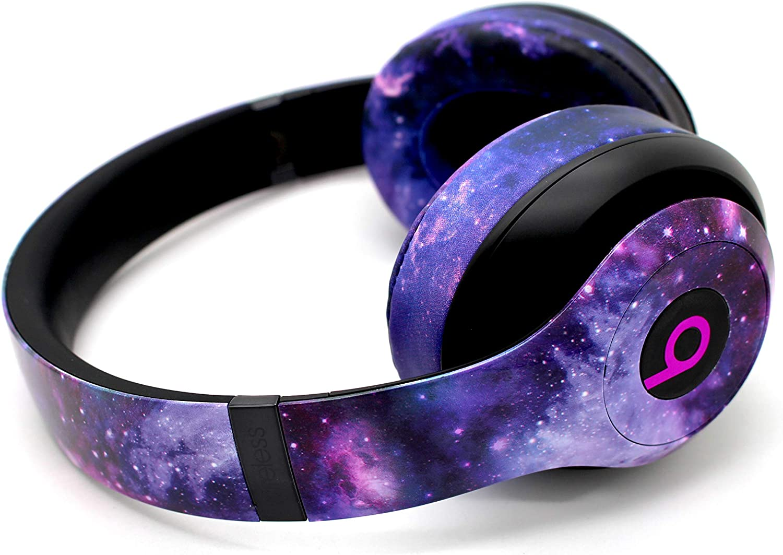 Beats by Dre Studio 3 Wireless - Custom Painted Dr. Dre Bluetooth Headset w/Evil Headphones Galaxy Cushions - (Galaxy)