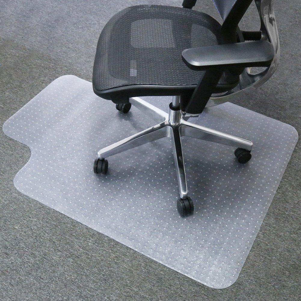 Mysuntown Carpet Chair Mats, PVC Vinyl Chair Mat for Carpeted Floors with Lip, Transparent Desk Chair Mat - 36 X 48 Inch Standard Pile Carpet by mysuntown
