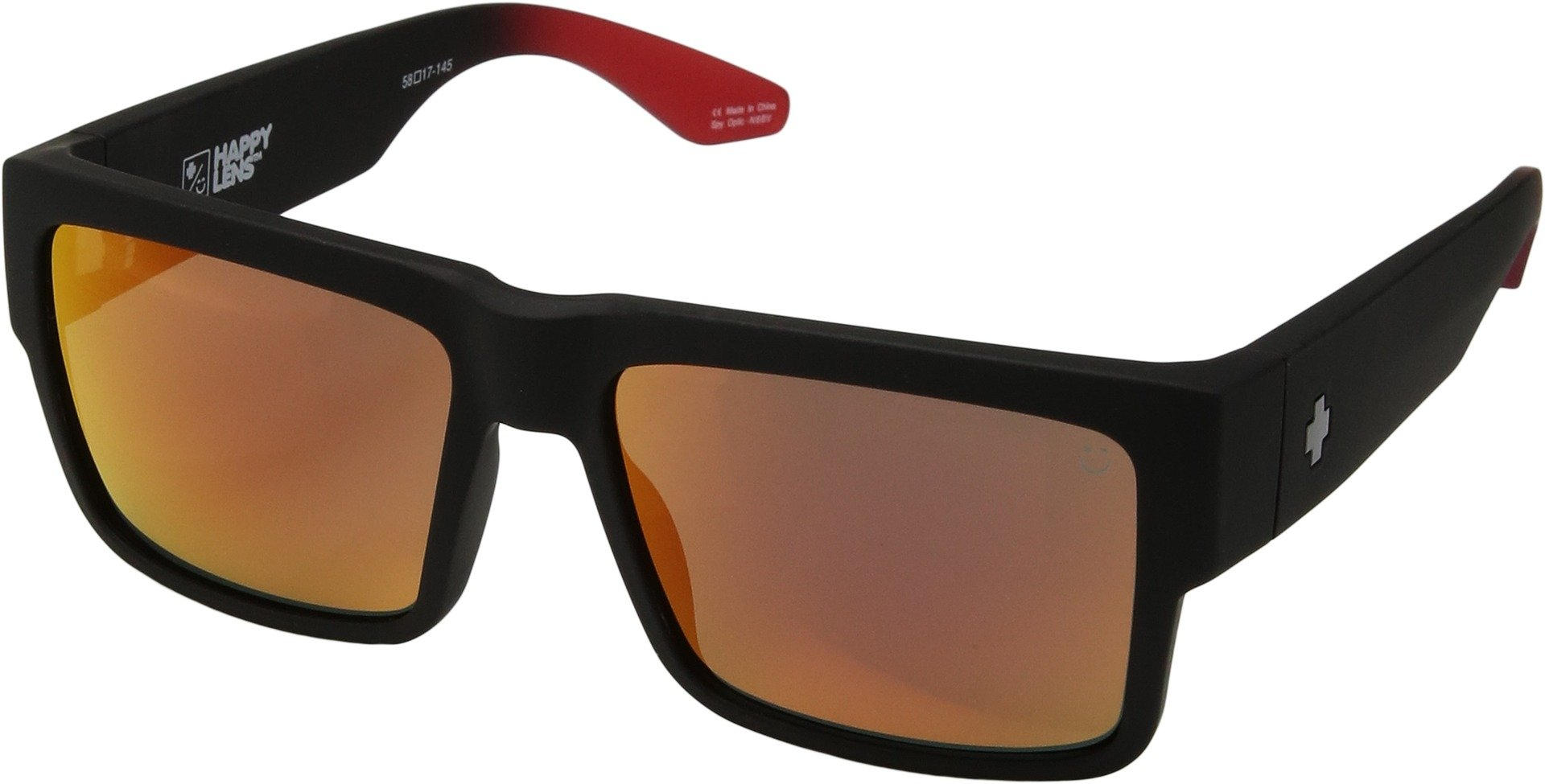 Spy Optic Unisex Cyrus Cyrus Soft Matte Black/Red Fade/Happy Gray/Green/Red Flash One Size