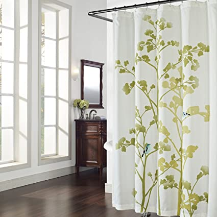 DS BATH Luchen Green Tree Shower CurtainFlower CurtainPlants Curtains For