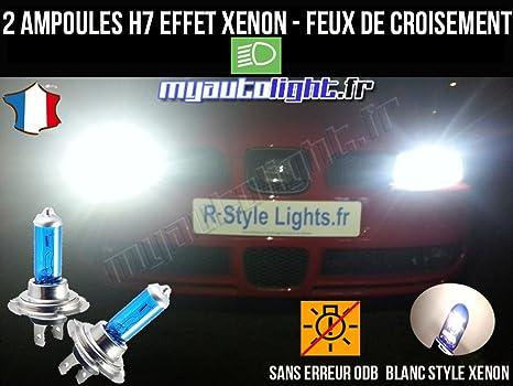 Pack Bombillas H7 blanco Xenon luz croisement-code para Seat Leon 1