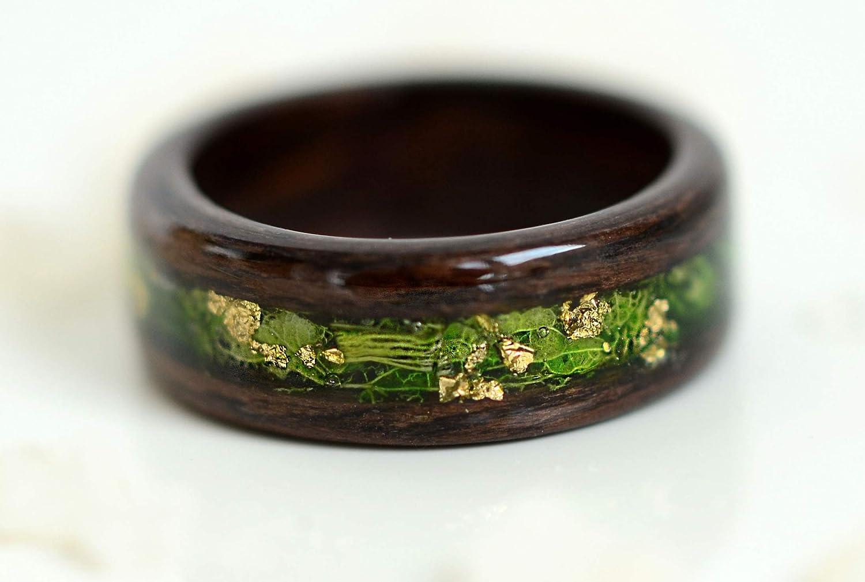 Wood Wedding Band Men Mens Wedding Band Mens Ring Mens Wood Ring Wedding Band Whiskey Barrel Ring Wood Ring for Men Wood Inlay Ring