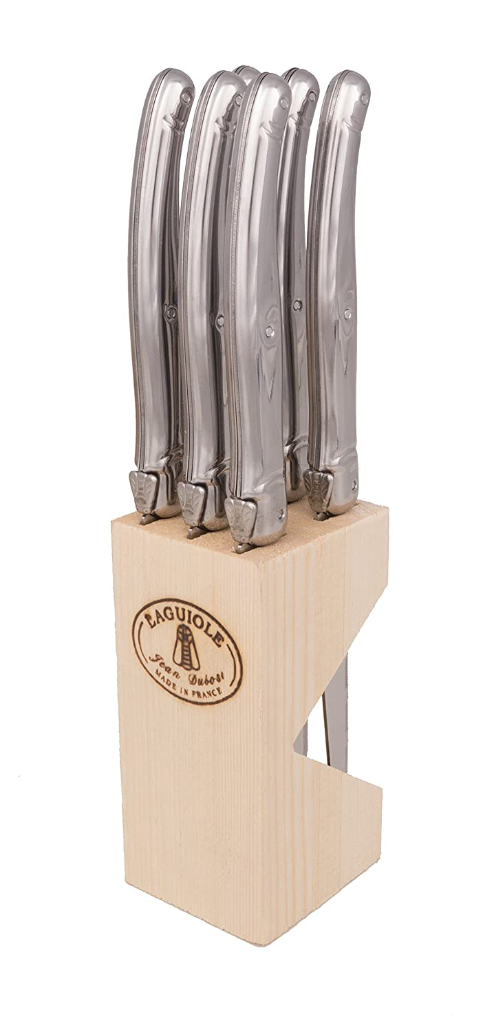 Laguiole Steel Cutlery Set with 6 Steak Knives 7114