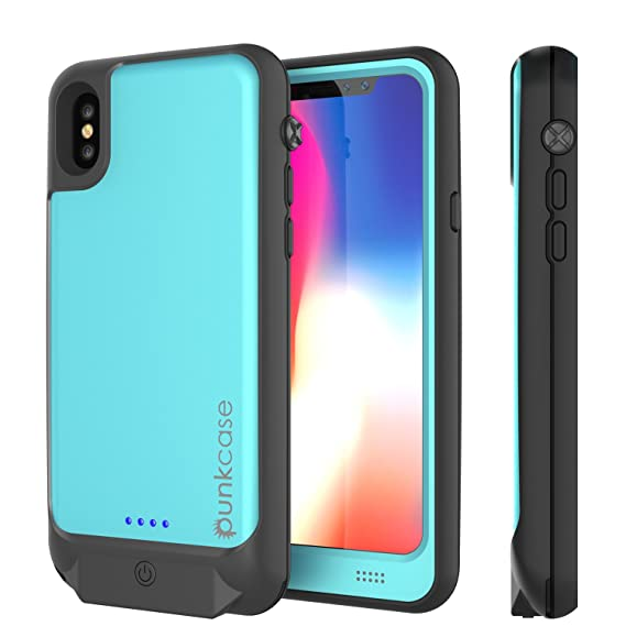 quite nice 63db3 0cecf PunkJuice iPhone X Battery Case, Waterproof IP68 Certified Charger Cover  W/Built-in Screen Protector [Ultra Slim] Fast Charging & Protective 3600mAh  ...