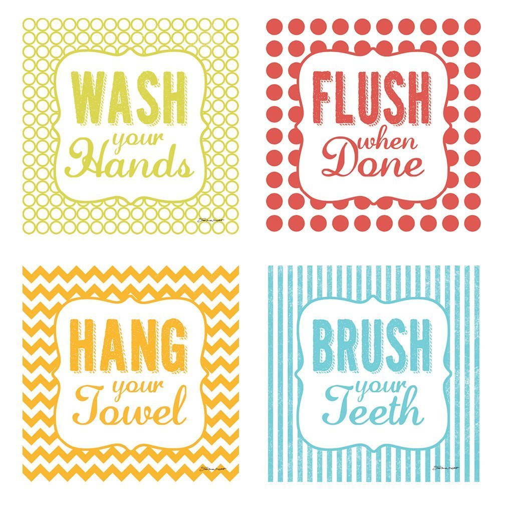 Amazon.com: Hang Your Towel\', \'Flush When Done, \' \'Brush Your Teeth ...
