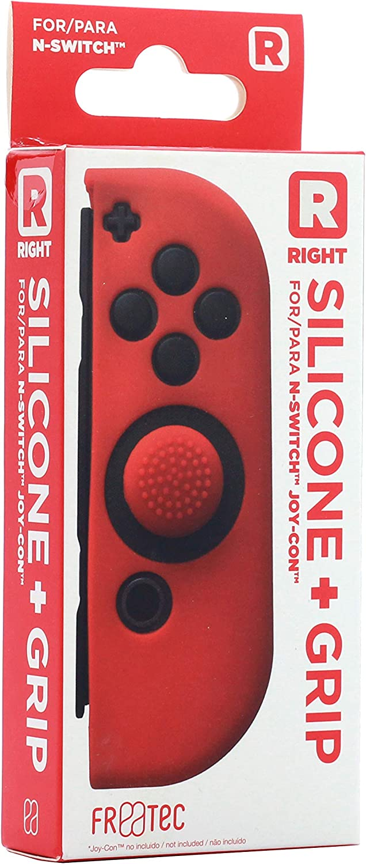 FR·TEC - Funda Protectora De Silicona + Grip Derecho Rojo Para El Joy- Con - Nintendo Switch: Amazon.es: Videojuegos