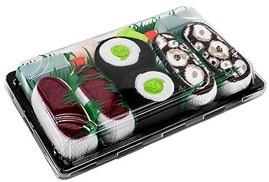 Sushi Socks Box - 3 pares de CALCETINES: Maki de Pepino, Atún, Pulpo - REGALO DIVERTIDO, Algodón de alta Calidad|Tamaños 41-46, Certificado de OEKO-TEX, ...