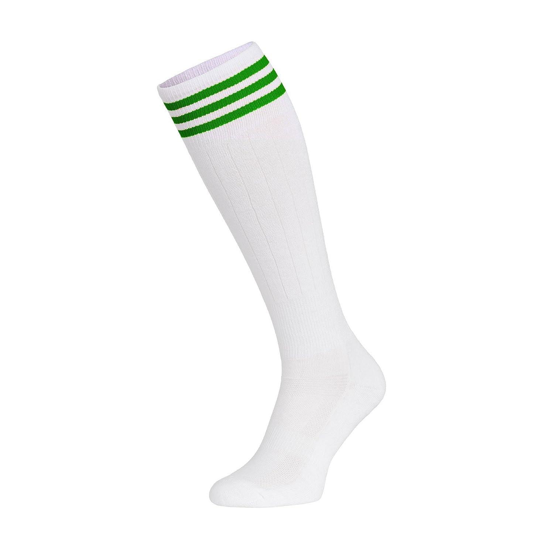 Nessi – Medias deportivas de algodón hasta la rodilla para mujer, voleibol, fitness, danza, inline, mujer, color weißgrün, tamaño 35-37: Amazon.es: Deportes ...