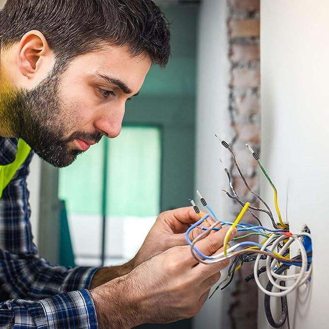 1200pcs Connettori Elettrici cavo isolato Kit pin terminale grande assortimento Puntali con la scatola portatile Wire Terminal Puntali Crimp connettore