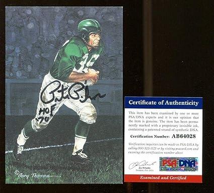 Pete Pihos Signed Goal Line Art GLAC Autographed w HOF Eagles AB64028 - PSA  75abf7666