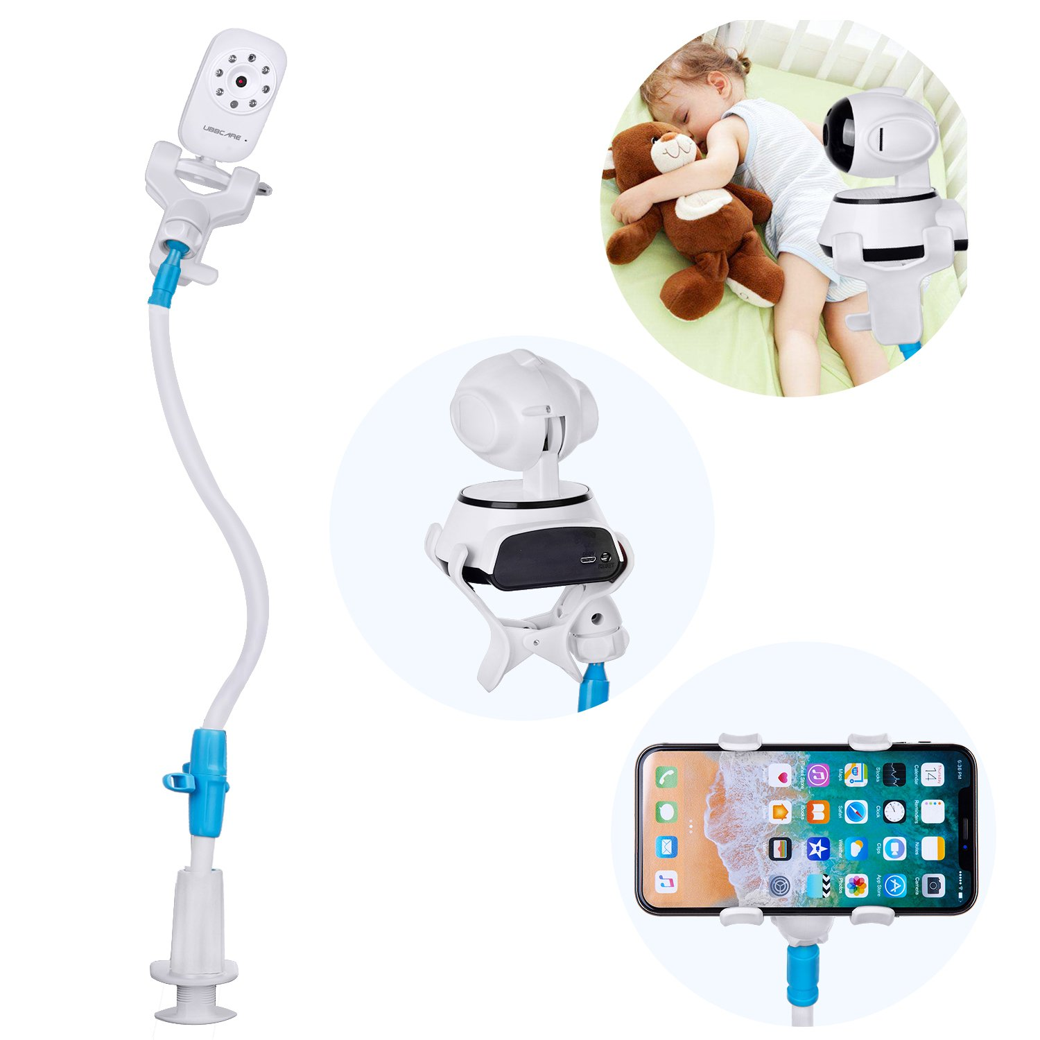 Baby Monitors Camera Holder Stand Universal Cute Cellphone Smartphone Stand Holder for Table Desk