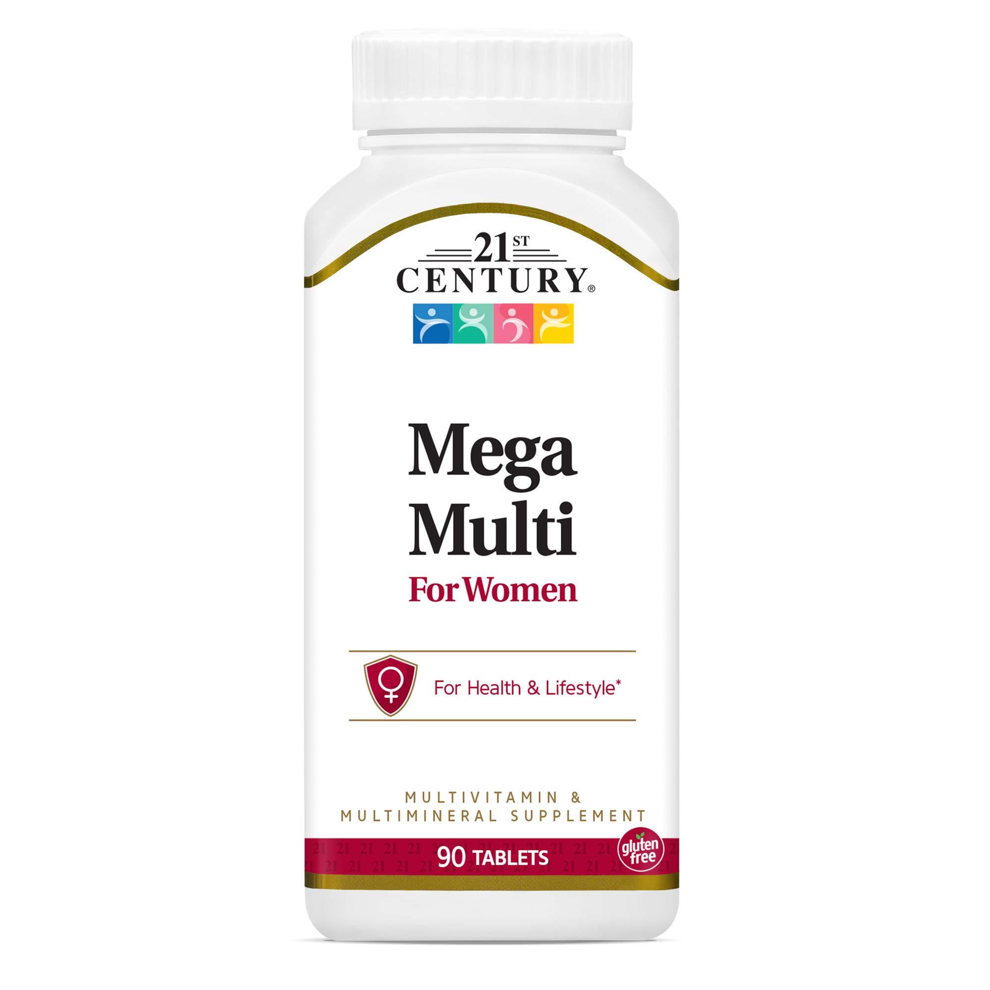 21st Century Mega Multi for Women Tablets, 90 Count (22659)