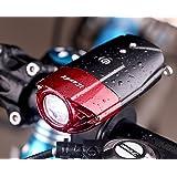 Front Bike Rechargeable Radfahren Scheinwerfer Von iCoudy Super Bright 500 Lumen 3W R3 führte Fahrrad Licht wasserdicht Fahrrad Scheinwerfer für Radfahren (rot)