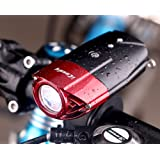 Front Bike lights Rechargeable Usb Cycling Headlight By iCoudy Led bicycle lights 500 Lumens 3W Best front bicycle light Waterproof Bicycle Headlight for Cycling(Red)