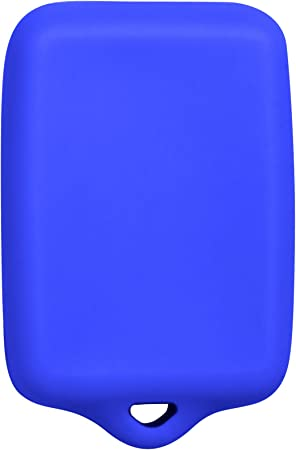 Keyless2Go New Silicone Cover Protective Case for 5 Button Remote Key Fob with FCC CWTWB1U511 Blue