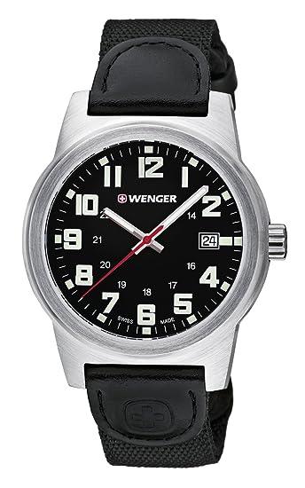 c4c089bbca42 Wenger Reloj Analogico para Hombre de Cuarzo con Correa en Nailon  01.0441.137  Amazon.es  Relojes