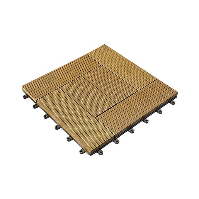 Amazon.com: 11 x WPC Wooden/Plastic Composite DIY Interlock ...