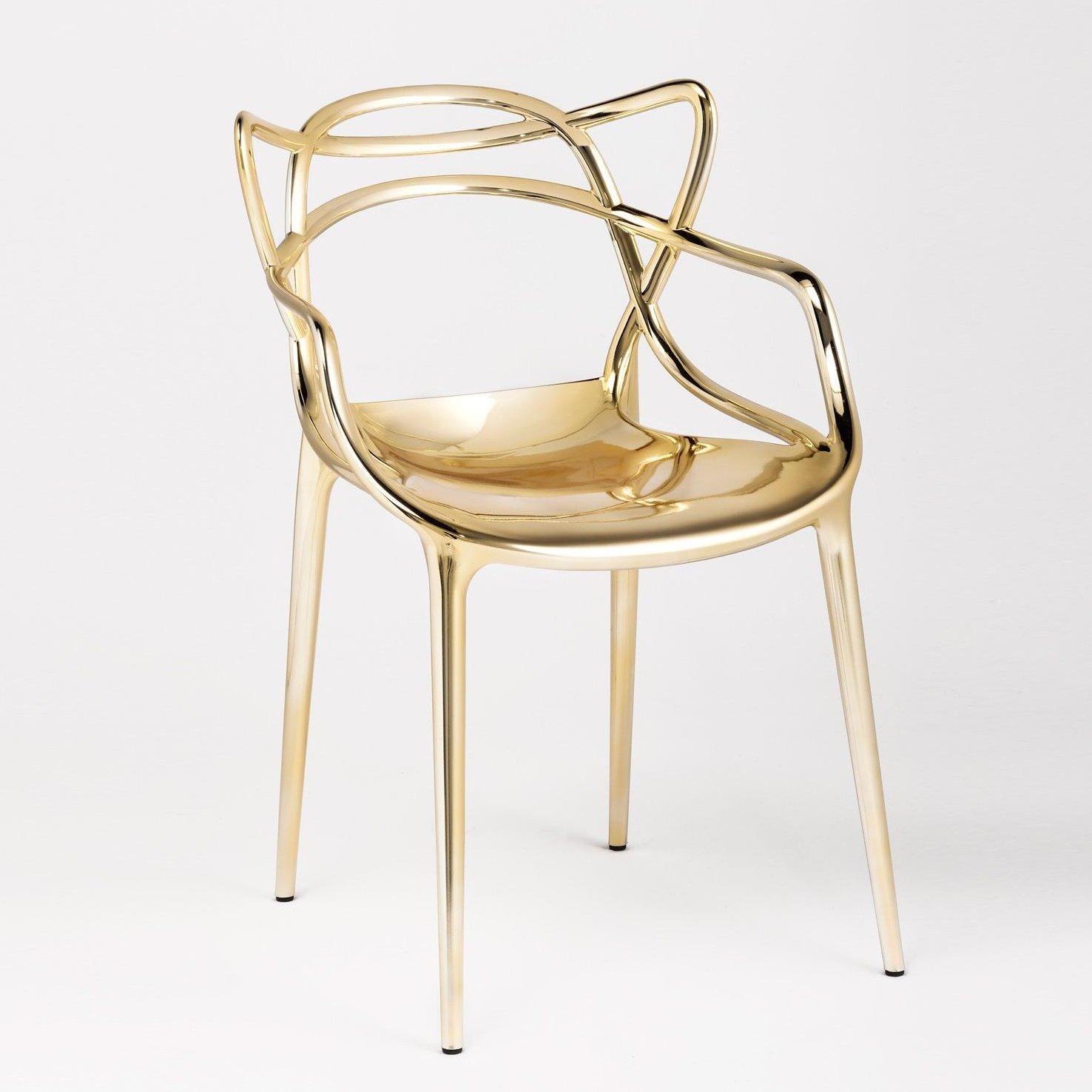 Exceptional Einfache Dekoration Und Mobel Kartell Masters #11: Kartell Masters Stuhl, Gold Glänzend: Amazon.de: Küche U0026 Haushalt