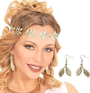 Amakando Joya con Forma de Hoja Pendientes de Hojas de Elfo Dorado Clips Oreja Diosa Afrodita Joyas para Disfraz de Mujer Colgante Griega para Orejas Bisutería Princesa: Amazon.es: Juguetes y juegos