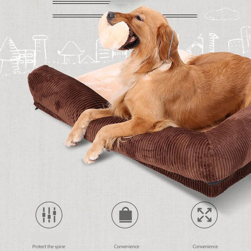 LDFN Dog Pillow Bed Removable And Washable Four Seasons General Large Medium Small Size Dog Mattress Sofa Cushions,Red-XL by LDFN (Image #6)