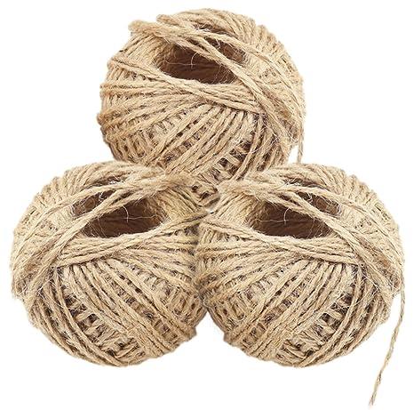FiveSeasonStuff cuerda de cuerda de yute natural, rollo de cuerda, cuerda de etiqueta,