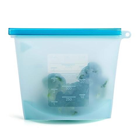 Amazon.com: Bolsas de silicona reutilizables para sándwiches ...