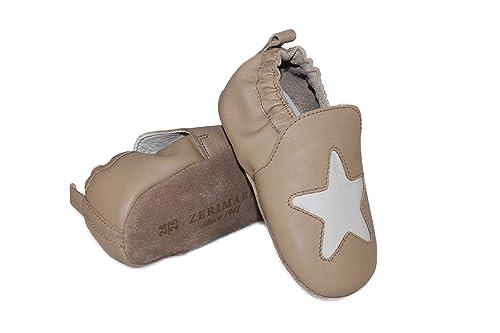 Souple Zerimar PasChaussons Bebe Garcon Premier Cuir Chaussures I6yf7Ybvg