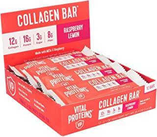 product image for Collagen Protein Bars with MCTs - Vital Proteins Collagen Bars - 16-17g of Protein, 6-8g of Fiber, 4g of Sugar or Less Per Bar (Raspberry Lemon)