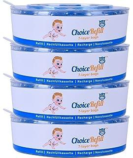 Recarga ChoiceRefill para el sistema Angelcare de cubetas de pañales (pack de 4)