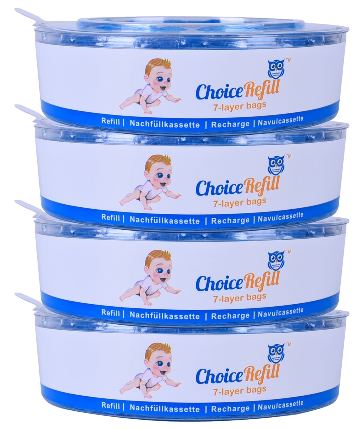 ChoiceRefill for Angelcare Nappy Pails System (4-Pack) Haoyunbao