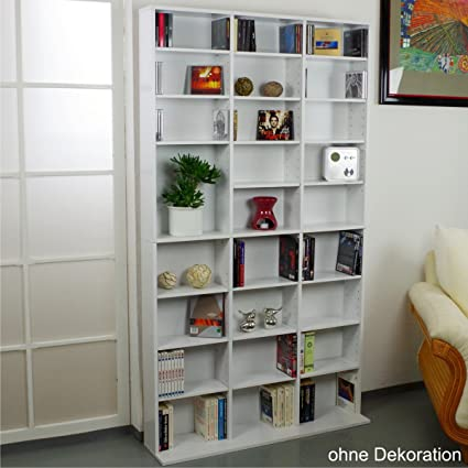 CD DVD Estantería Estante de pared 1080 unidad de CD s pared estante estante madera