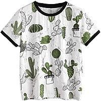 JUTOO Tee-Shirt imprimé Femme Manches Courtes été