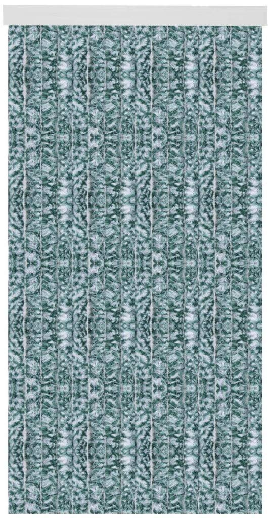 Arsvita Flausch-Vorhang (120x215cm) in der Farbe  Grün-Weiß, vielen Größen erhältlich
