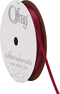 """product image for Offray 1/8"""" Wide Double Face Satin Ribbon, 30 Yards, Wine Red"""