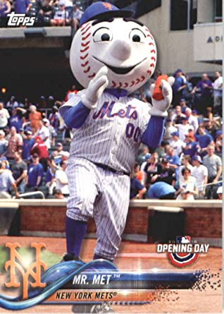 Met Mets Baseball Card NM-MT 2015 Topps Opening Day Mascots #M-17 Mr