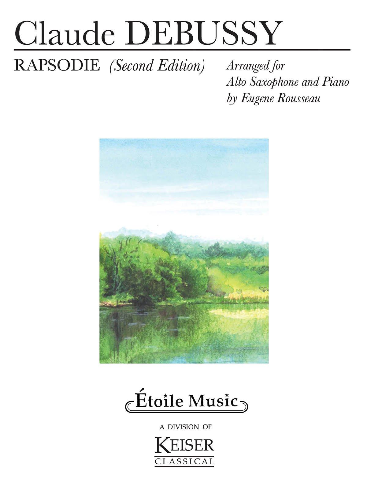 Amazon Com Rapsodie For Alto Saxophone And Piano 0884088287702