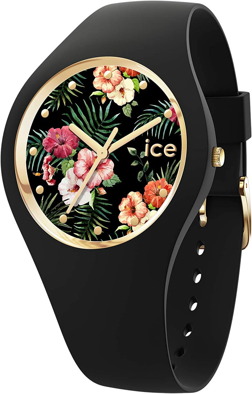 Ice-Watch - ICE flower Colonial - Reloj nero para Mujer con Correa de silicona - 016671 (Medium)