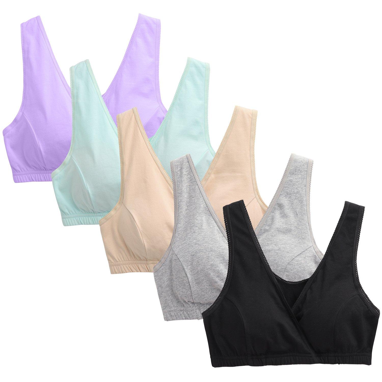 Zoendela Nursing Bra,Womens Cotton Maternity Bra for Breastfeeding,Wireless Sleeping Bra